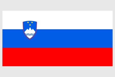 Slovenia flag vector template background realistic copy