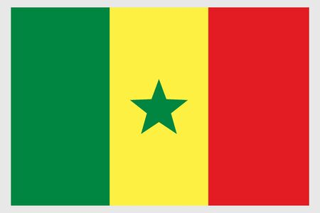 Senegal flag vector template background realistic copy  イラスト・ベクター素材