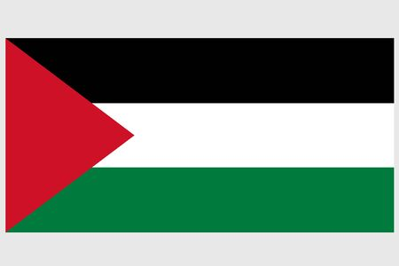 Palestinian Authority flag vector template background realistic copy