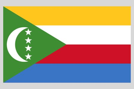 Union of the Comoros flag vector template background realistic copy