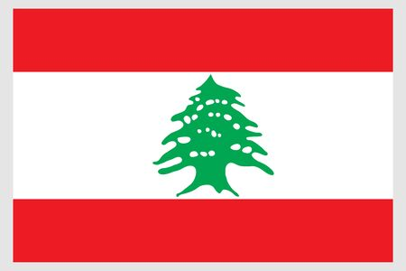 Lebanon flag vector template background realistic copy  イラスト・ベクター素材