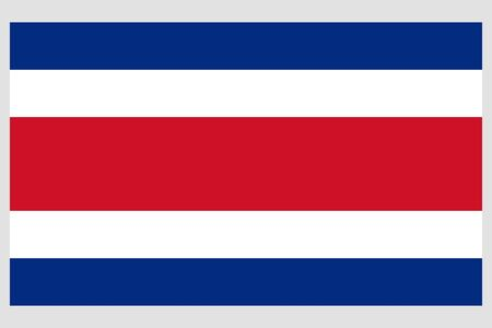 Costa Rica flag vector template background realistic copy  イラスト・ベクター素材