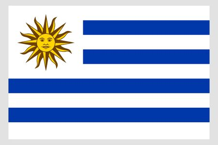 Uruguay flag vector template background realistic copy