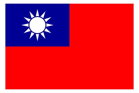Taiwan flag vector template background realistic copy