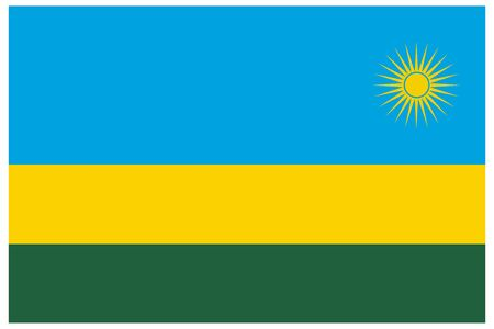 Rwanda flag vector template background realistic copy