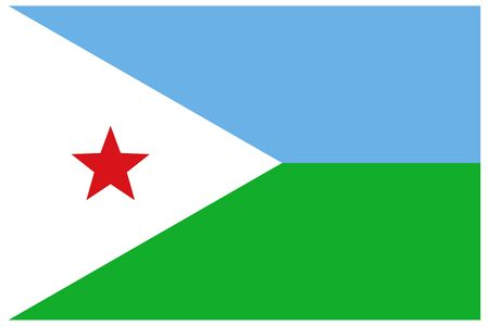 Djibouti flag vector template background realistic copy  イラスト・ベクター素材