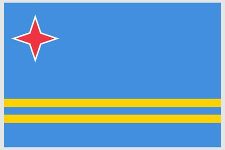 Aruba flag vector template background realistic copy  イラスト・ベクター素材