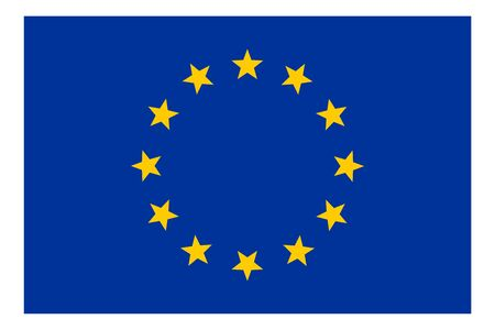European Union EU flag vector template background realistic copy