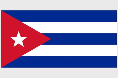 Cuba flag vector template background realistic copy  イラスト・ベクター素材