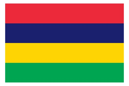 Mauritius flag vector template background realistic copy