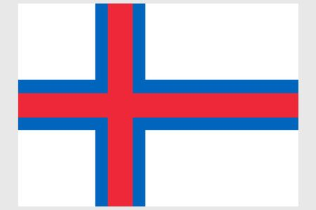 Faroe Islands flag vector template background realistic copy