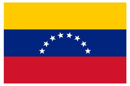 Venezuela flag vector template background realistic copy