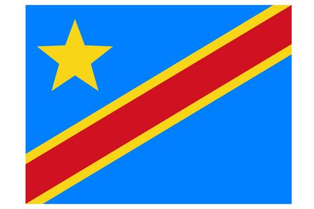 Democratic Republic of the Congo flag vector template background realistic copy