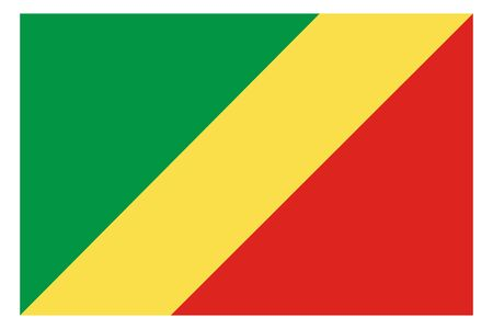 Republic of the Congo flag vector template background realistic copy  イラスト・ベクター素材