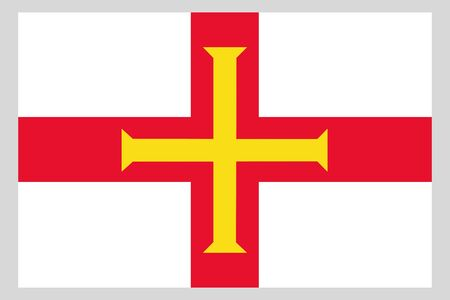 Guernsey flag vector template background realistic copy