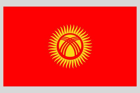 Kyrgyzstan flag vector template background realistic copy