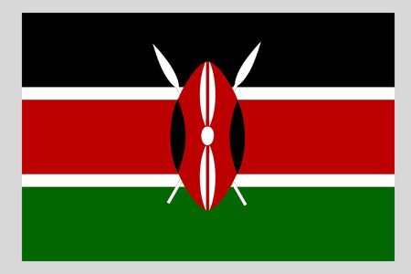 Kenya flag vector template background realistic copy