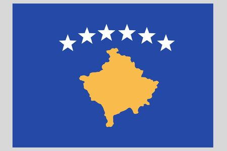 Kosovo flag vector template background realistic copy  イラスト・ベクター素材