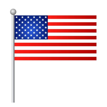American USA flag vector template background realistic copy