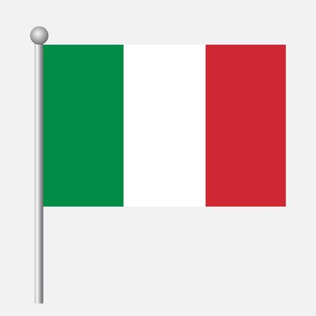 Italy flag vector template background realistic copy  イラスト・ベクター素材