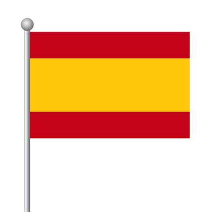 Spain flag vector template background realistic copy  イラスト・ベクター素材