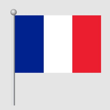 France flag vector template background realistic copy