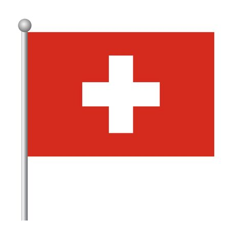 Switzerland flag vector template background realistic copy  イラスト・ベクター素材