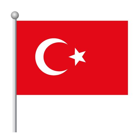 Turkey flag vector template background realistic copy
