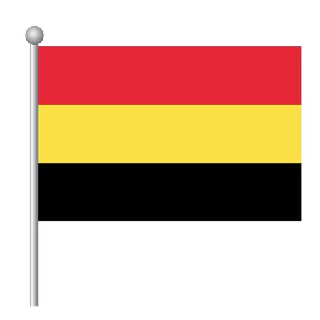 Belgium flag vector template background realistic copy  イラスト・ベクター素材