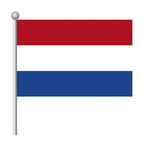 Netherlands flag vector template background realistic copy