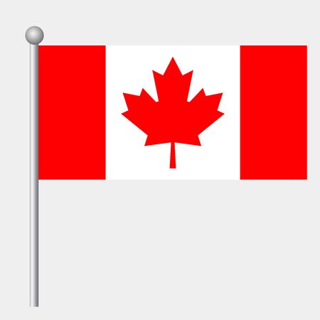 Canada flag vector template background realistic copy  イラスト・ベクター素材