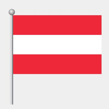 Austria flag vector template background realistic copy