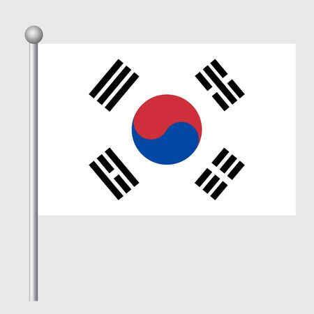 South Korea flag vector template background realistic copy  イラスト・ベクター素材