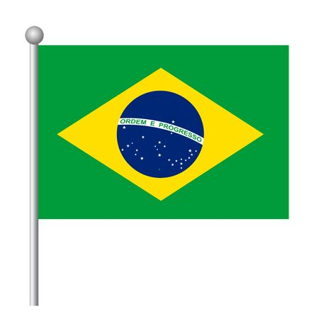 Brazil flag vector template background realistic copy  イラスト・ベクター素材