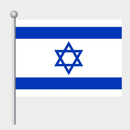 Israel flag vector template background realistic copy  イラスト・ベクター素材