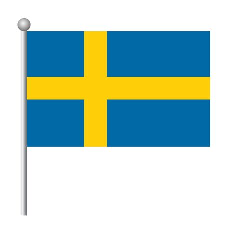 Sweden flag vector template background realistic copy