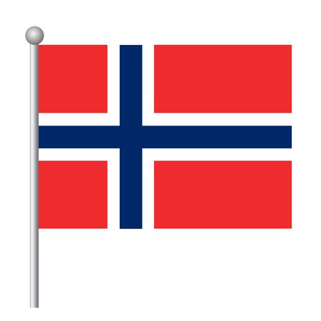 Norway flag vector template background realistic copy