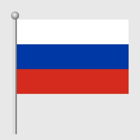 Russia flag vector template background realistic copy  イラスト・ベクター素材