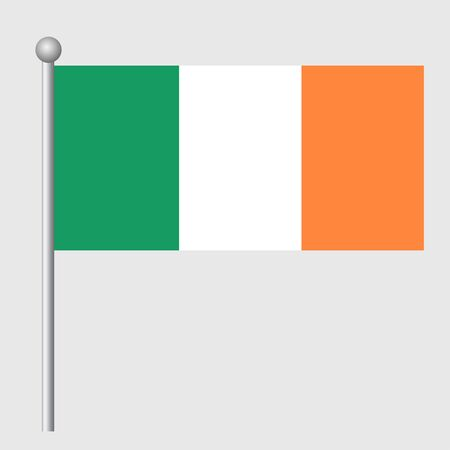 Ireland flag vector template background realistic copy