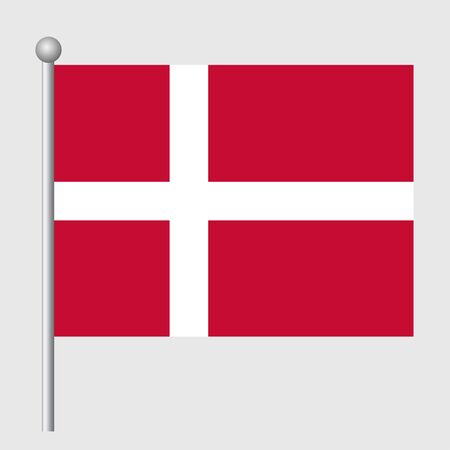Denmark flag vector template background realistic copy  イラスト・ベクター素材