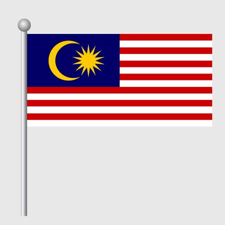 Malaysia flag vector template background realistic copy