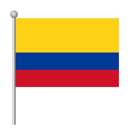 Colombia flag vector template background realistic copy