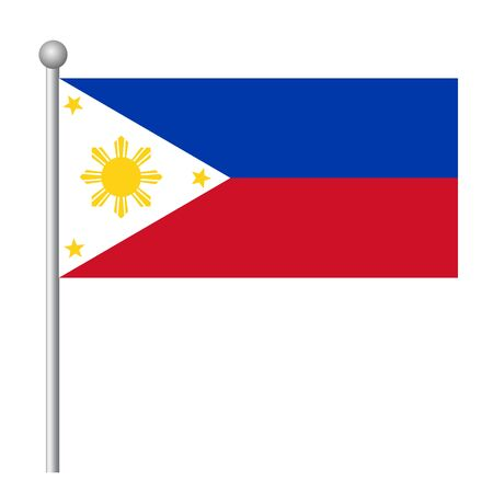 Philippines flag vector template background realistic copy