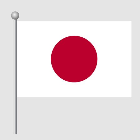 Japan flag vector template background realistic copy  イラスト・ベクター素材