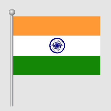 India flag vector template background realistic copy  イラスト・ベクター素材