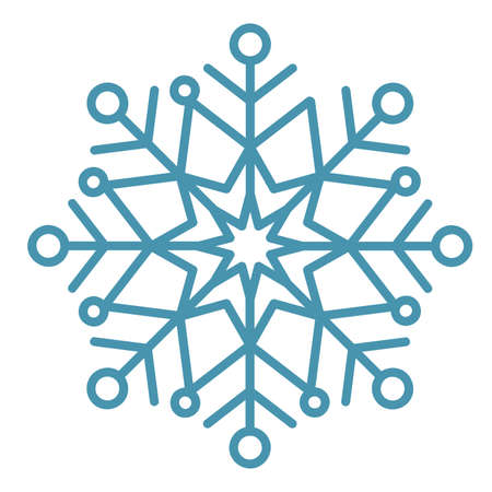 Winter snowflake crystals, christmas snow shapes and frosted cool blue icon, cold xmas season frost snowfall decoration, stock vector illustration