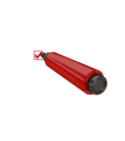 Red marker pen. Isolated on white background. 3d rendered. Stock Photo - 12161151