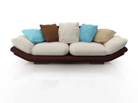 Modern sofa isolated on white background.3d rendered. photo
