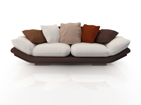 Modern sofa. Isolated on white background.3d rendered. photo