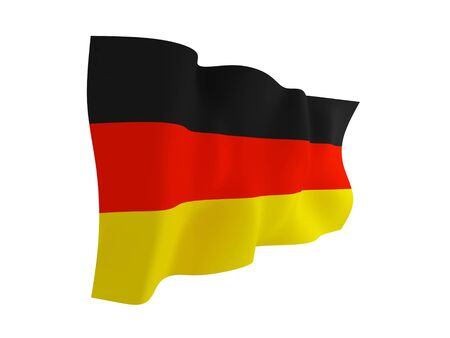 German flag. Isolated on white background.3d rendered. photo